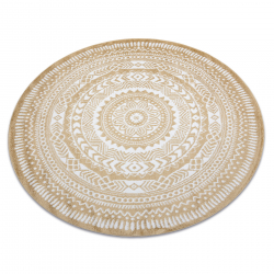 Okrúhly koberec FUN Napkin obrúsok - zlato