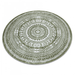 Килим FUN Napkin салфетка кръг - зелен