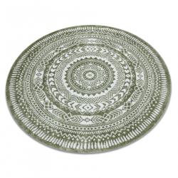 Okrúhly koberec FUN Napkin obrúsok - zelený