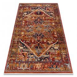 Tapete KESHAN franjas, Ornamento oriental 2886/53588 bordó