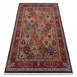 Carpet Wool KESHAN fringe, Ornament, frame oriental 7576/53511 terracotta