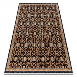 Tapete KESHAN franjas, oriental clássico 7680/53511 bege / azul escuro