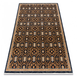 Teppich Wolle KESHAN Franse, orientalisch klassisch 7680/53511 beige / dunkelblau