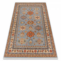 Koberec Wool KESHAN Rám oriental 7683/53544 béžový / modrý