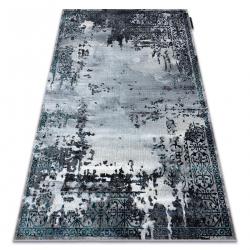 Moderný koberec DE LUXE 2078 ornament vintage - Štrukturálny sivá