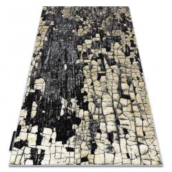Moderný koberec DE LUXE 2079 Dlažba tehla - Štrukturálny zlato / grå