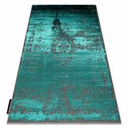 Moderný koberec DE LUXE 2083 ornament vintage - Štrukturálny zelená / sivá