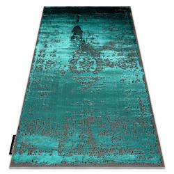 Tapis DE LUXE moderne 2083 Ornement vintage - Structural vert / gris