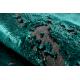 Dywan DE LUXE nowoczesny 2083 Ornament vintage przecierany - Strukturalny zielony / szary