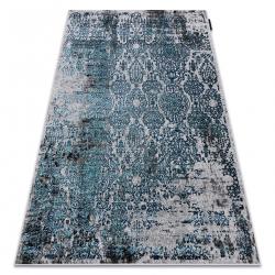 Moderný koberec DE LUXE 2081 ornament vintage - Štrukturálny modrý / sivá