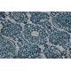 Dywan DE LUXE nowoczesny 2081 Ornament vintage przecierany - Strukturalny niebieski / szary