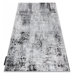 Modern DE LUXE carpet 2081 ornament vintage - structural cream / grey