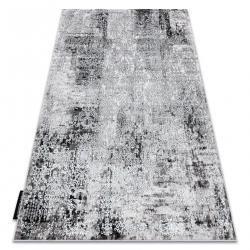 Moderný koberec DE LUXE 2081 ornament vintage - Štrukturálny krém / sivá