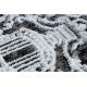 Dywan DE LUXE nowoczesny 2081 Ornament vintage przecierany - Strukturalny krem / szary