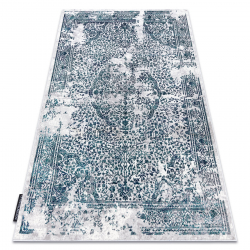 Moderný koberec DE LUXE 2082 ornament vintage - Štrukturálny krém / sivá