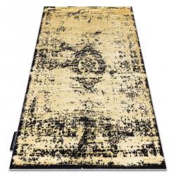 Moderný koberec DE LUXE 2083 ornament vintage - Štrukturálny zlato / sivá