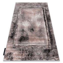Moderný koberec DE LUXE 634 Rám vintage - Štrukturálny sivá / ružový