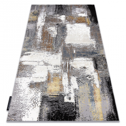 Tapis DE LUXE moderne 633 Abstraction - Structural crème / or