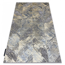 Modern DE LUXE carpet 2087 Chevron vintage - structural gold / grey