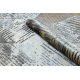 Dywan DE LUXE nowoczesny 2087 Jodełka Chevron vintage przecierany - Strukturalny złoty / szary