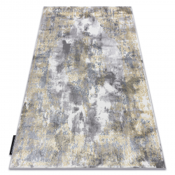 Moderný koberec DE LUXE 6754 ornament vintage - Štrukturálny krém / zlato