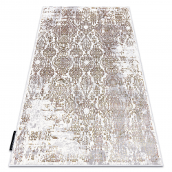 модерен DE LUXE килим 2081 украшение vintage - structural злато / сметана