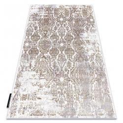 Modern DE LUXE carpet 2081 ornament vintage - structural gold / cream