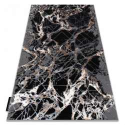 Tapis DE LUXE moderne 622 Abstraction - Structural gris / or