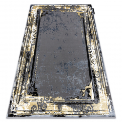 Modern DE LUXE carpet 628 ornament vintage - structural grey / gold