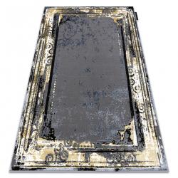 Moderný koberec DE LUXE 628 ornament vintage - Štrukturálny sivá / zlato