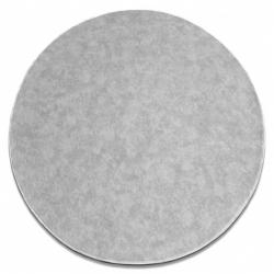 Carpet round SERENADE silver