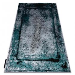 Modern DE LUXE carpet 624 Frame - structural grey / green