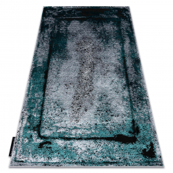 Moderný koberec DE LUXE 624 Rám - Štrukturálny sivá / verde