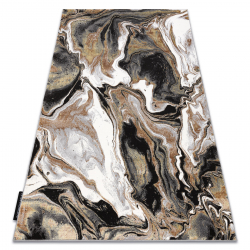 Tapis DE LUXE moderne 622 Abstraction - Structural crème / or