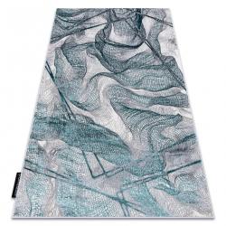 Moderný koberec DE LUXE 621 Sieť - Štrukturálny sivá / verde