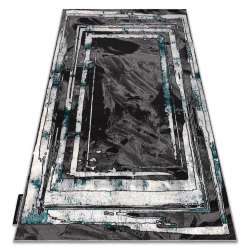 модерен DE LUXE килим 619 кадър - structural сив / зелен