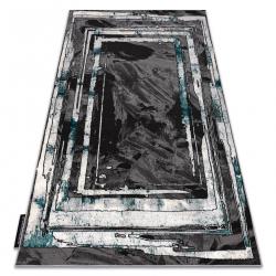 Tapis DE LUXE moderne 619 Cadre - Structural gris / vert