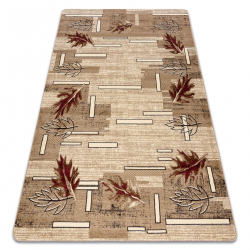 Carpet ROYAL design GR012 Leaves, cream / beige