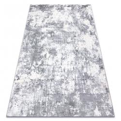 Koberec CORE A002 Abstrakcia - štrukturálna, dve úrovne z rúna, slonová kosť / šedá
