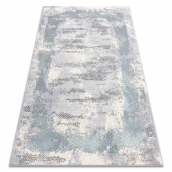 Carpet CORE A004 Frame, Shaded - structural two levels of fleece, ivory / grey / blue