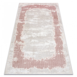 Carpet CORE A004 Frame, Shaded - structural two levels of fleece, beige / pink