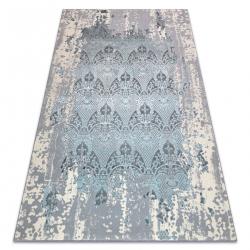 Carpet CORE W3824 Ornament Vintage - structural, two levels of fleece, light blue / cream / grey