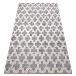 килим CORE W6764 Mароканска детелина - структурно, две нива на руно, сив / крем