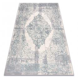 Carpet CORE W7161 Vintage rosette - structural, two levels of fleece, light blue / cream / grey