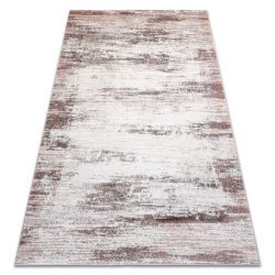 CORE szőnyeg W9775 Keret, árnyékolt - Structural, két szintű, bézs / rózsaszín