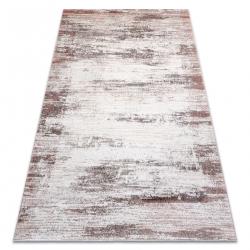 килим CORE W9775 Рамка, сенчеста - структурни, две нива на руно, бежово / розово