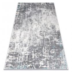 килим CORE W9782 - структурно, две нива на руно, слонова кост / сив