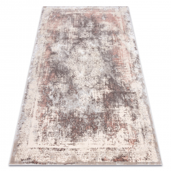 Carpet CORE W9784 Vintage rosette - structural two levels of fleece, beige / pink