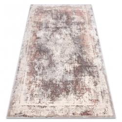 CORE szőnyeg W9784 Rozetta Vintage - Structural, két szintű, bézs / rózsaszín