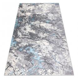 Koberec CORE W9789 Abstrakcia - štrukturálna, dve úrovne z rúna, šedá / modrý